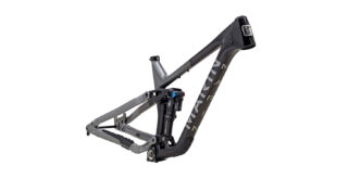 Alpine Trail Carbon 2 frame kit front 3/4, gloss black/silver
