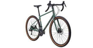 Four Corners, front 3/4 gloss green/tan