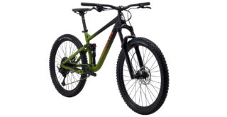 2021 Rift Zone 27.5 1 front 3/4, gloss black/green/orange