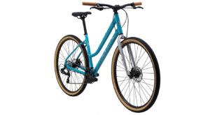 Kentfield ST1 front 3/4, gloss teal/silver