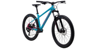 San Quentin 1 front 3/4, gloss teal/pink/black