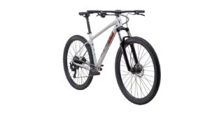 2022 Marin Bobcat Trail 4 front view Gloss Silver/Red/Grey.