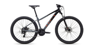 2022 Marin Wildcat Trail 1 Gloss Black/Charcoal/Coral profile.