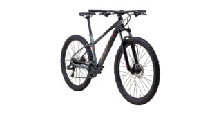 2022 Marin Wildcat Trail 1 front view Gloss Black/Charcoal/Coral.
