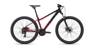 2022 Marin Wildcat Trail 1 Gloss Maroon/Black/Teal profile.