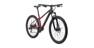 2022 Marin Wildcat Trail 1 front view Gloss Maroon/Black/Teal.
