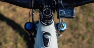 Marin Alpine Trail E2 power switch and Shimano EP8 display.