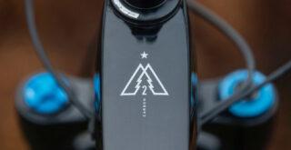 Marin Alpine Trail Carbon 2 logo detail.