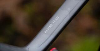 Marin Alpine Trail Carbon 2 top tube detail.