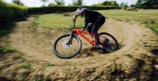 Marin rider Matt Jones rides a San Quentin 3 in his backyard trails.