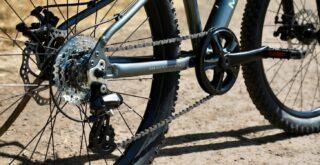 Marin Bayview Trail Shimano drivetrain detail.