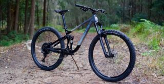 Marin Rift Zone 29 1 propped up on a trail, Australia.