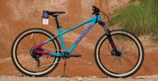 Marin San Quentin 1 in teal, at trails in Australia.