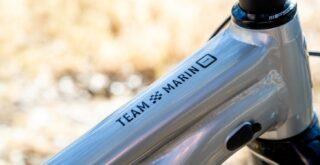Marin Team Marin logo detail.