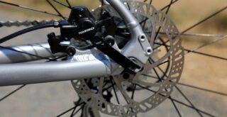 Marin Wildcat Trail 3 dropout & disc brake detail.