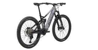 Rear 3/4 image of the Marin Alpine Trail E2 mountain bike