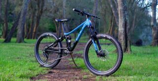 Marin Rift Zone Jr front 3-4, on the trails in Australia.