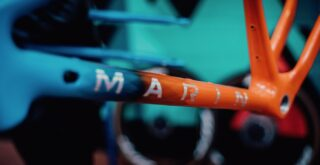 Marin Headlands frame kit downtube detail.