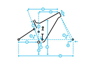 Alpine Trail E1 geometry diagram