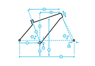 Headlands Frame Kit geometry diagram