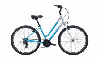 2018 Marin Stinson ST profile, silver/blue.