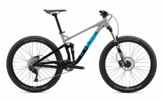 2019 Marin Hawk Hill 1 profile, grey/blue/black.