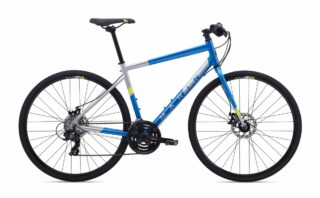 2020 Marin Fairfax 1 profile, blue/silver.