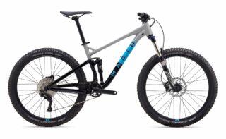 2020 Marin Hawk Hill 1 profile, grey/blue/black.