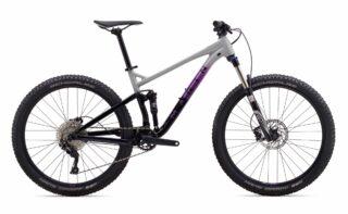 2020 Marin Hawk Hill 1 profile, grey/purple/black.