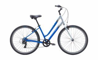 2020 Marin Stinson 7 profile, silver/blue.