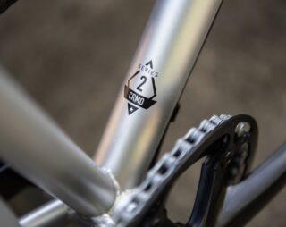 Marin Muirwoods RC bike frame detail.