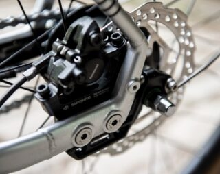 Marin Muirwoods RC rear dropout and brake mount.