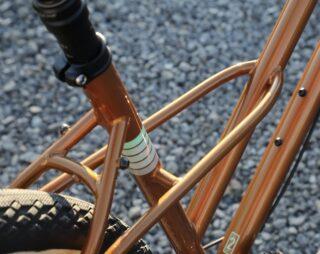 Detail of a Marin Larkspur 2 bike frame.