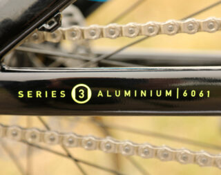 Marin Series 3 aluminum decal on the Alcatraz chainstay