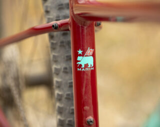 Detail image of the seattube and seatstay junction of the Bobcat Trail 4