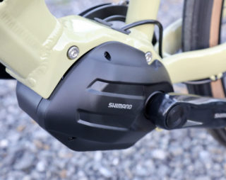 Shimano STEPS drive unit on a Marin Sausalito 1 ebike