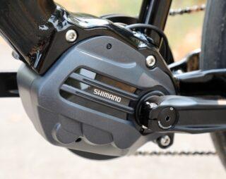 Shimano STEPS drive unit on a Marin Sausalito 1 ebike