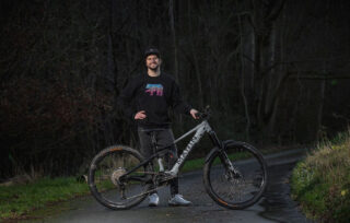Duncan Shaw stands with his Alpine Trail E2