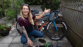 Juliet Elliot talks through Bikepcking