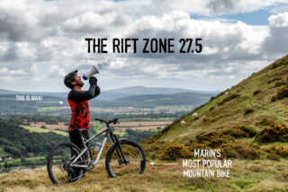Marin rider Nikki Whiles shouts the news of the Rift Zone 27.5 to the world.