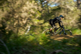 Chris Holmes riding Marin full suspension bike