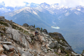 John Oldale riding Top of the World Trail Whistler