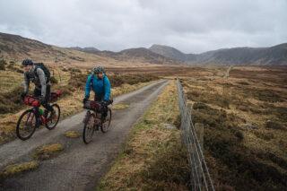 Gravel riders on Marin Bikes in Scotland bikepacking with Pannier.cc