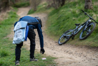 Marin Bikes Tidy Trail Trash Collection with Montrose Bag