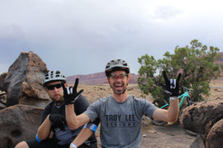 Marin's Aaron Abrams and Matt Cipes, Moab UT.