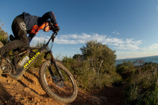 Marin's Matt Cipes, riding his mountain bike in Italy.