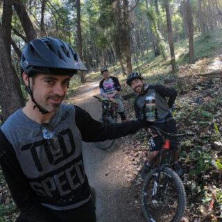 Marin's Matt Cipes out on a trail.