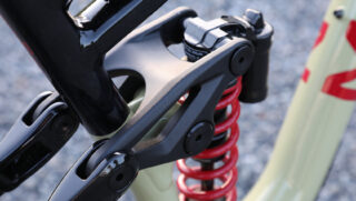 One piece forged rocker link, as used on the Marin Alpine Trail mountain bike models.