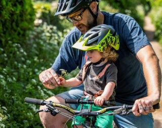 Kids Ride Shotgun handlebars and Kids Troy Lee Designs Helmet