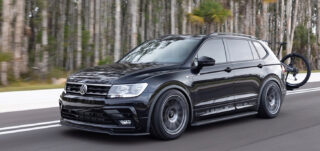 Customized VW Tiguan crossover, toting a Marin Alpine Trail Carbon 2